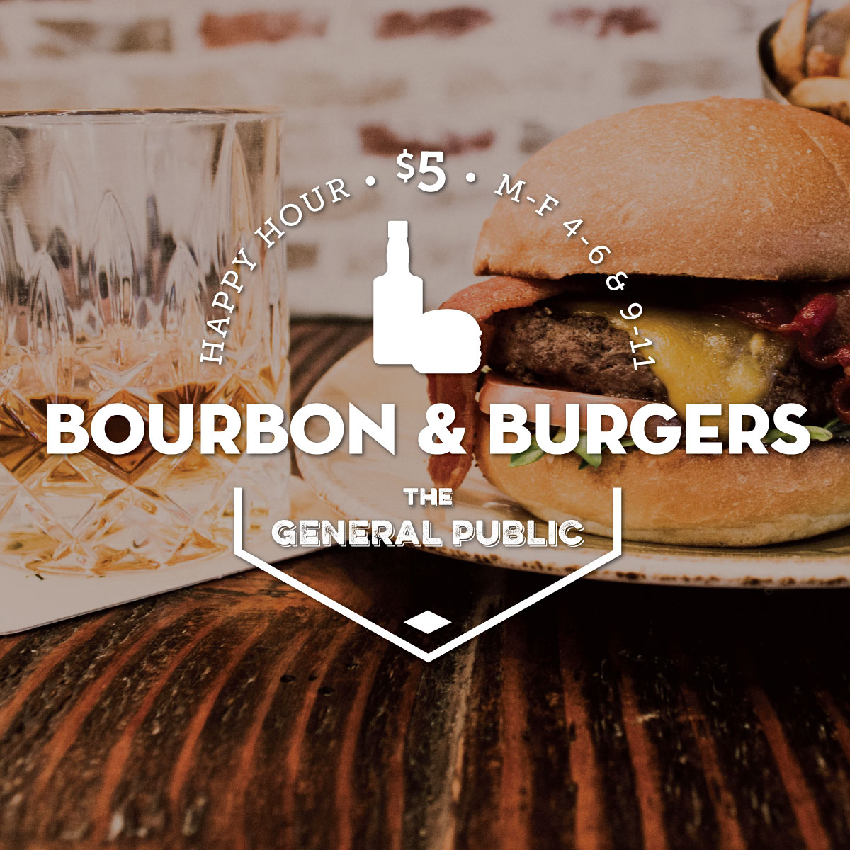 $5 Bourbon and Burgers Happy Hour in San Antonio and Houston